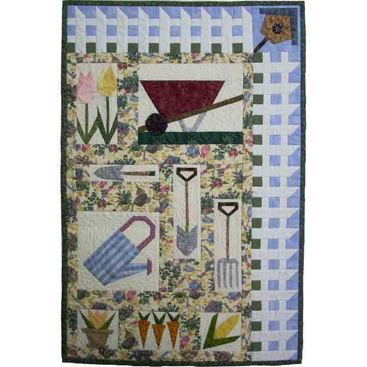 in the garden paper piecing quilt pattern