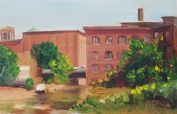 Mill Morning Oil Painting