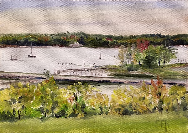 Wiscasset Morning Oil Painting