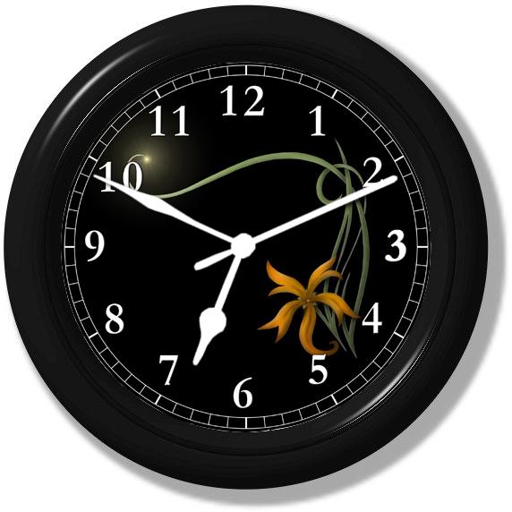 Flower Light Wall Clock