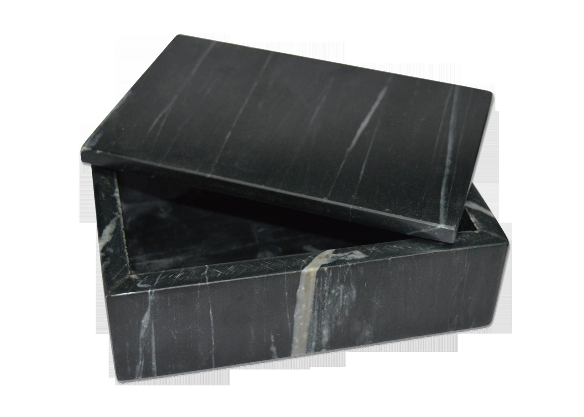 Black Marble Rectangle Box