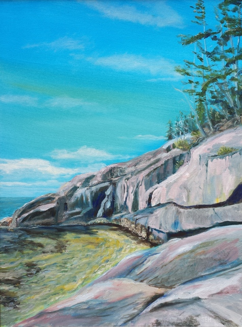 Acadia Morning Oil Painting