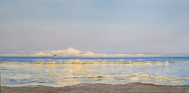 Golden Waves Oil Painting