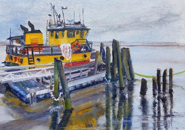 Tug Love Oil Painting