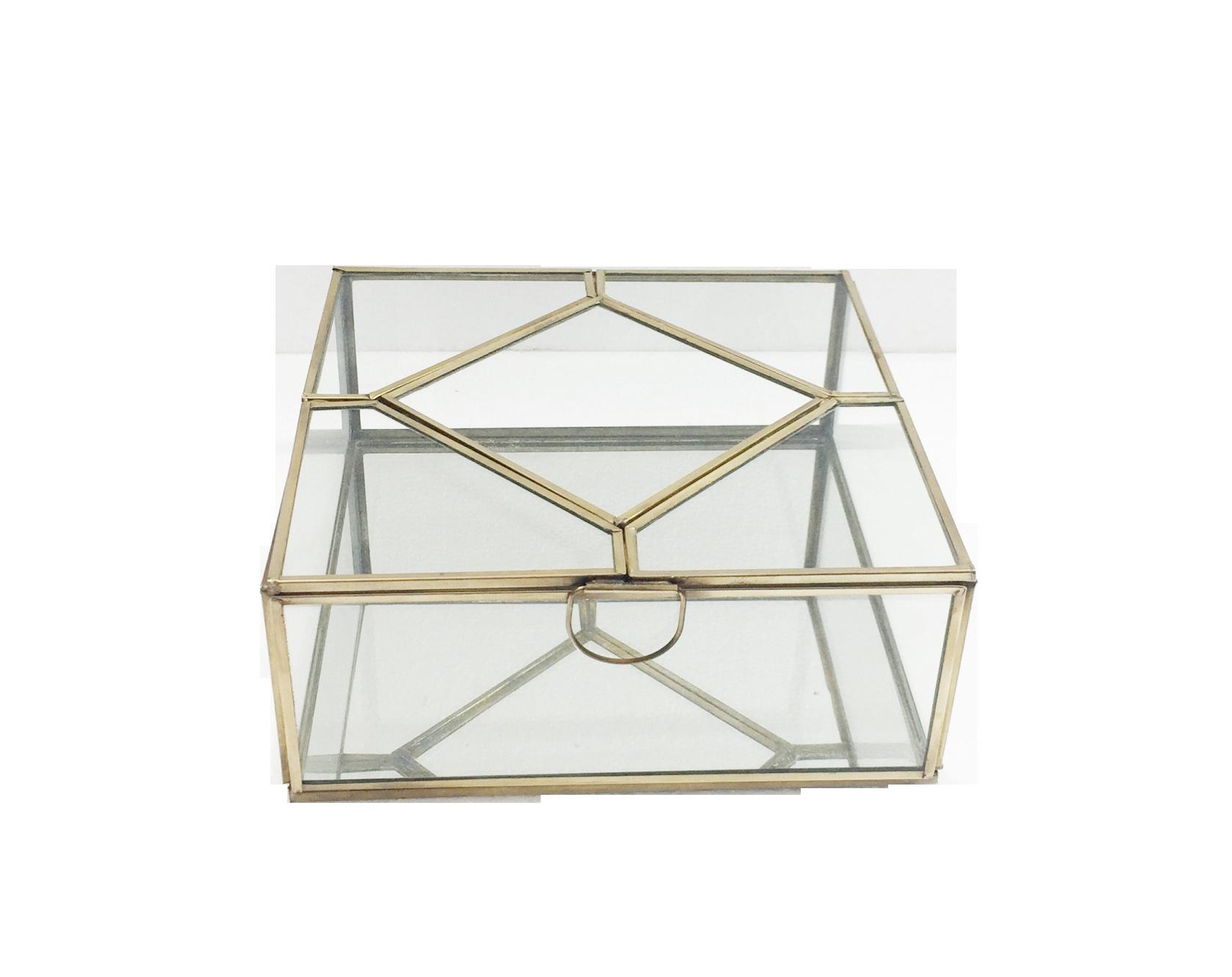 Brass & Glass Box, Large