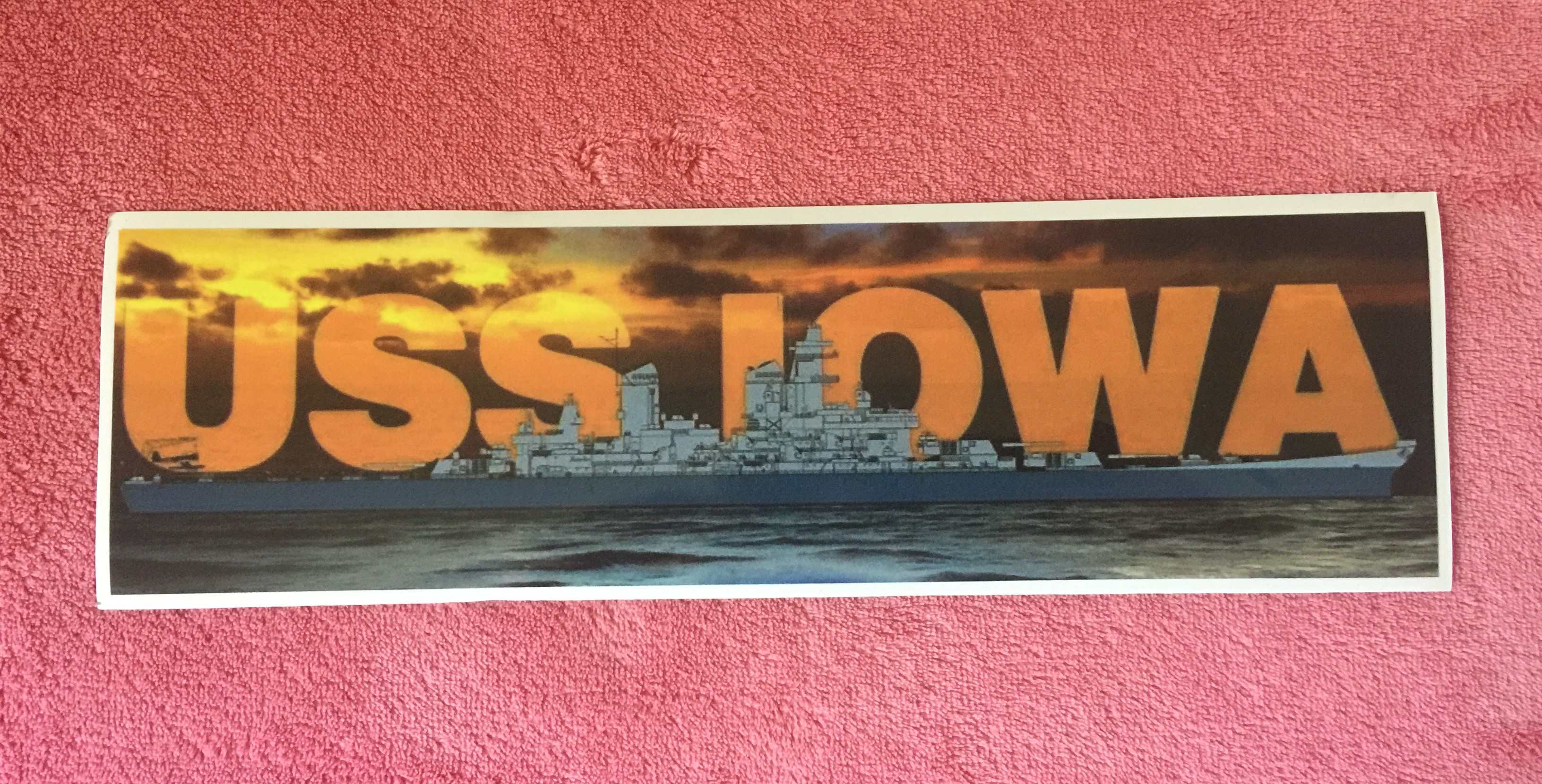 Bumper Sticker - WWII IOWA Sunset