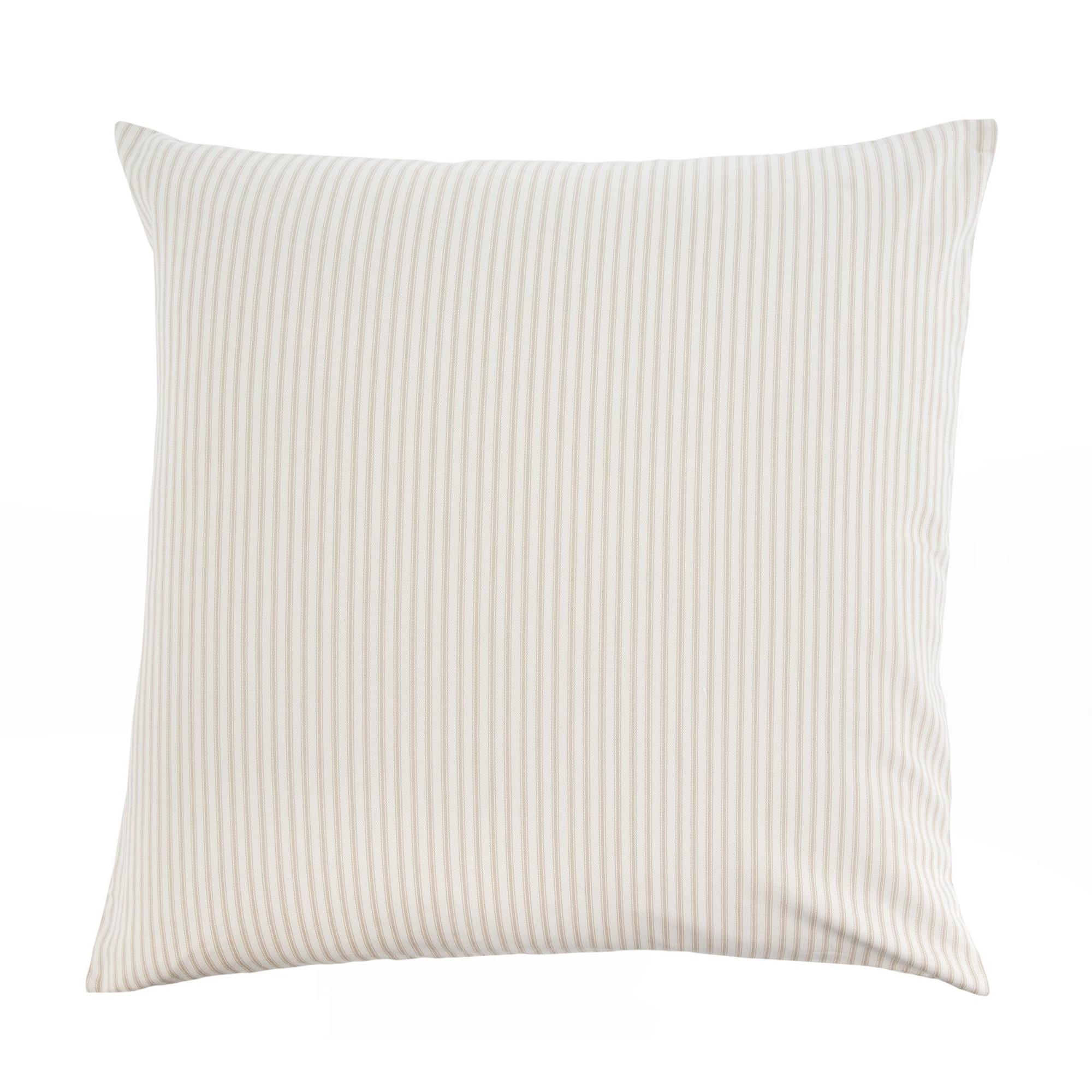 Beige Ticking Pillow