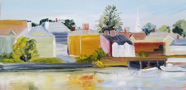 Portsmouth Shore Oil Painting