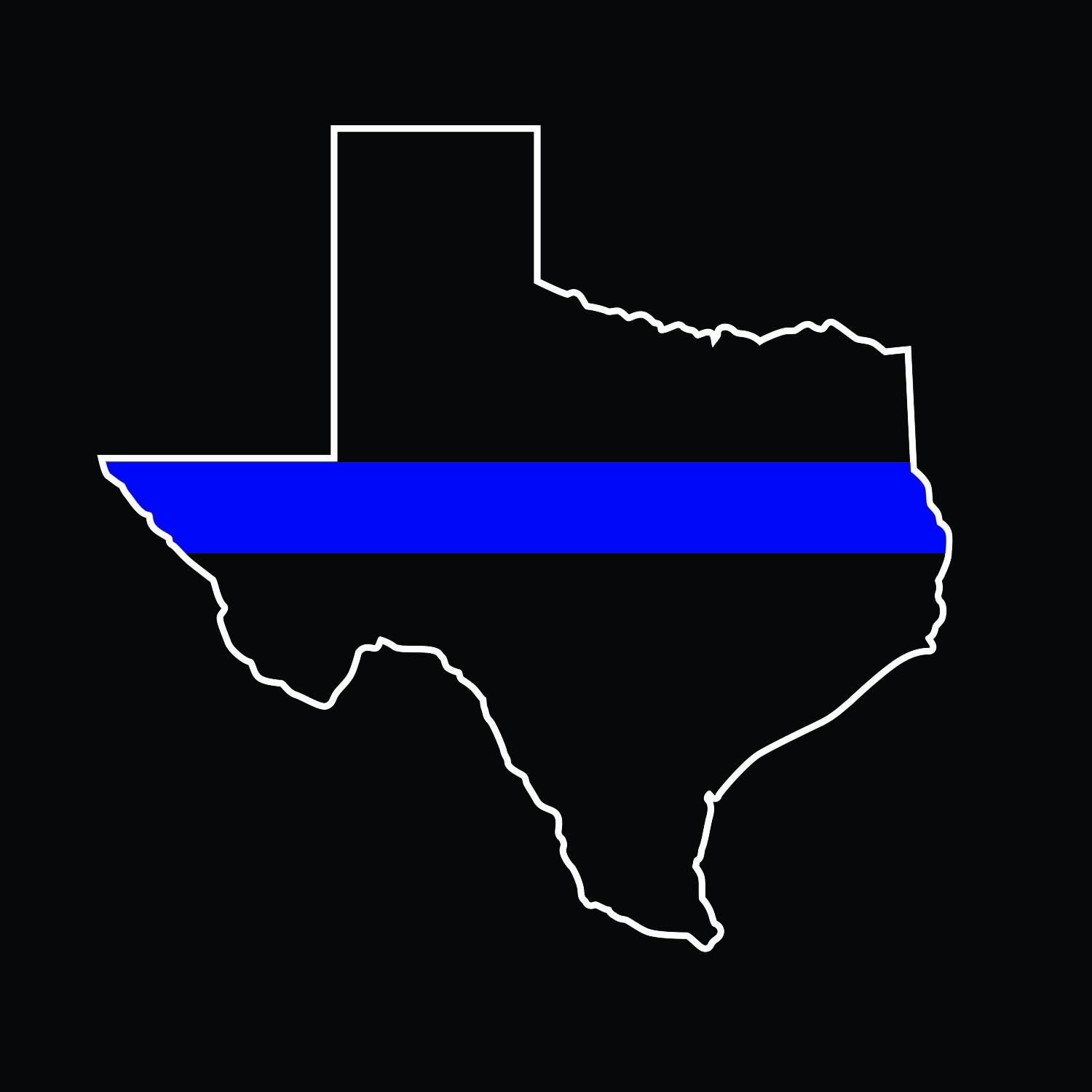 Thin blue line stickers from fort worth cops for kids for Texas thin blue line shirt