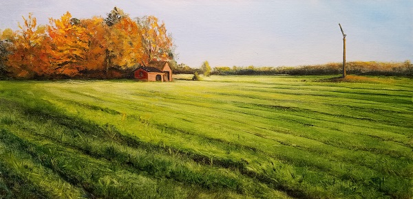 Field Aglow Oil Painting