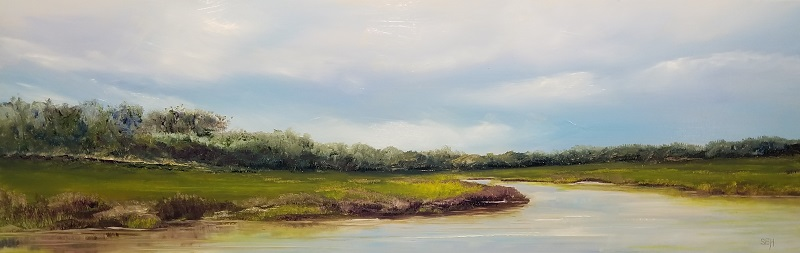 Salt Marsh Oil Painting
