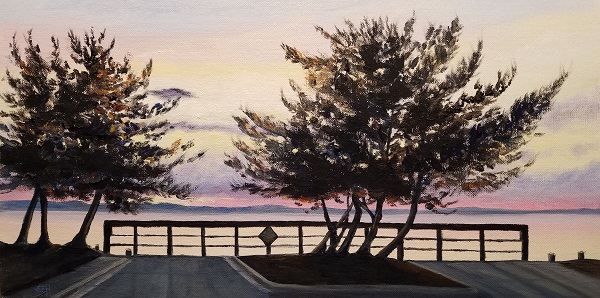 Sunset from 33rd Oil Painting