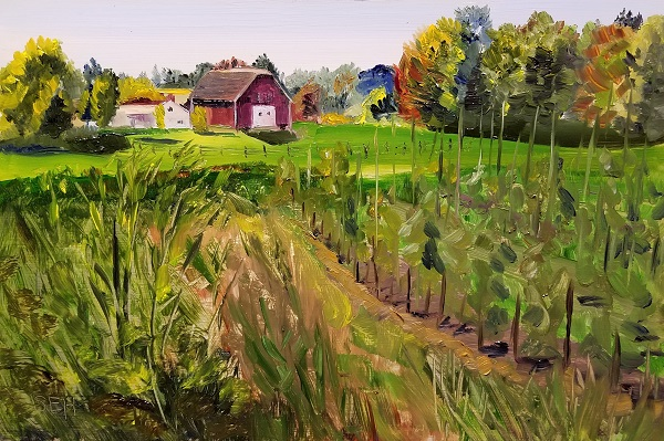 Rural Homestead Oil Painting