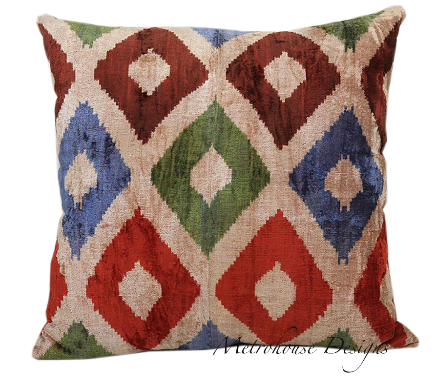 Silk Velvet Euro Accent Pillow
