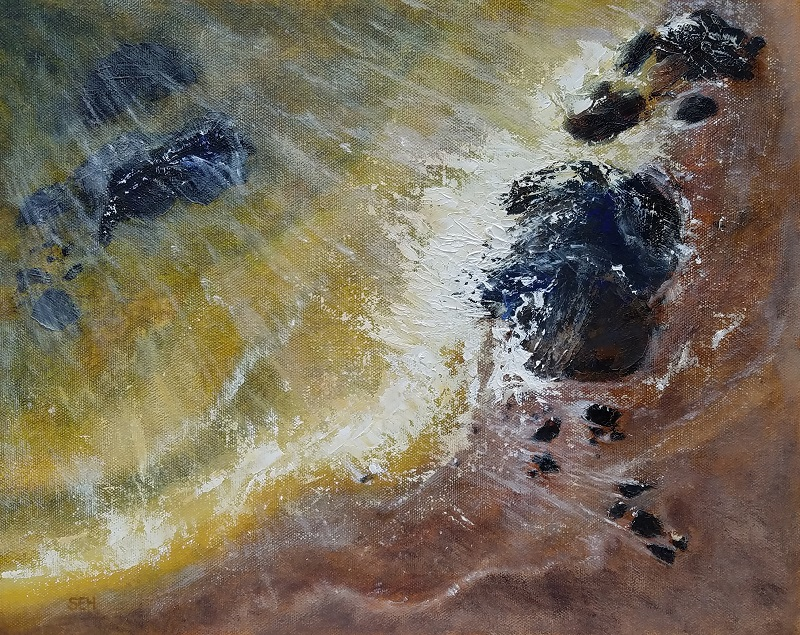Shore Action 6: Pull Oil Painting