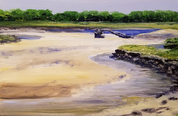 Low Tide Parsons Oil Painting