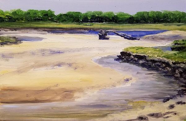 Low Tide Parsons Oil Painting