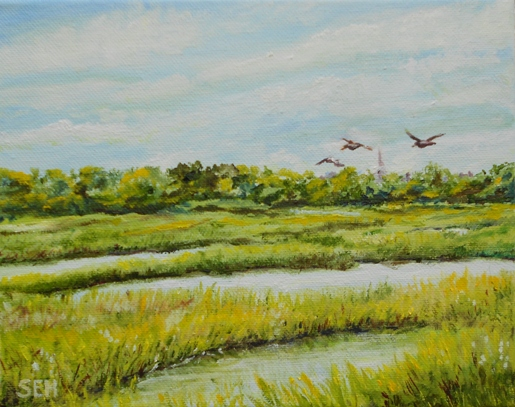 Tidal Marsh - Yarmouth Oil Painting