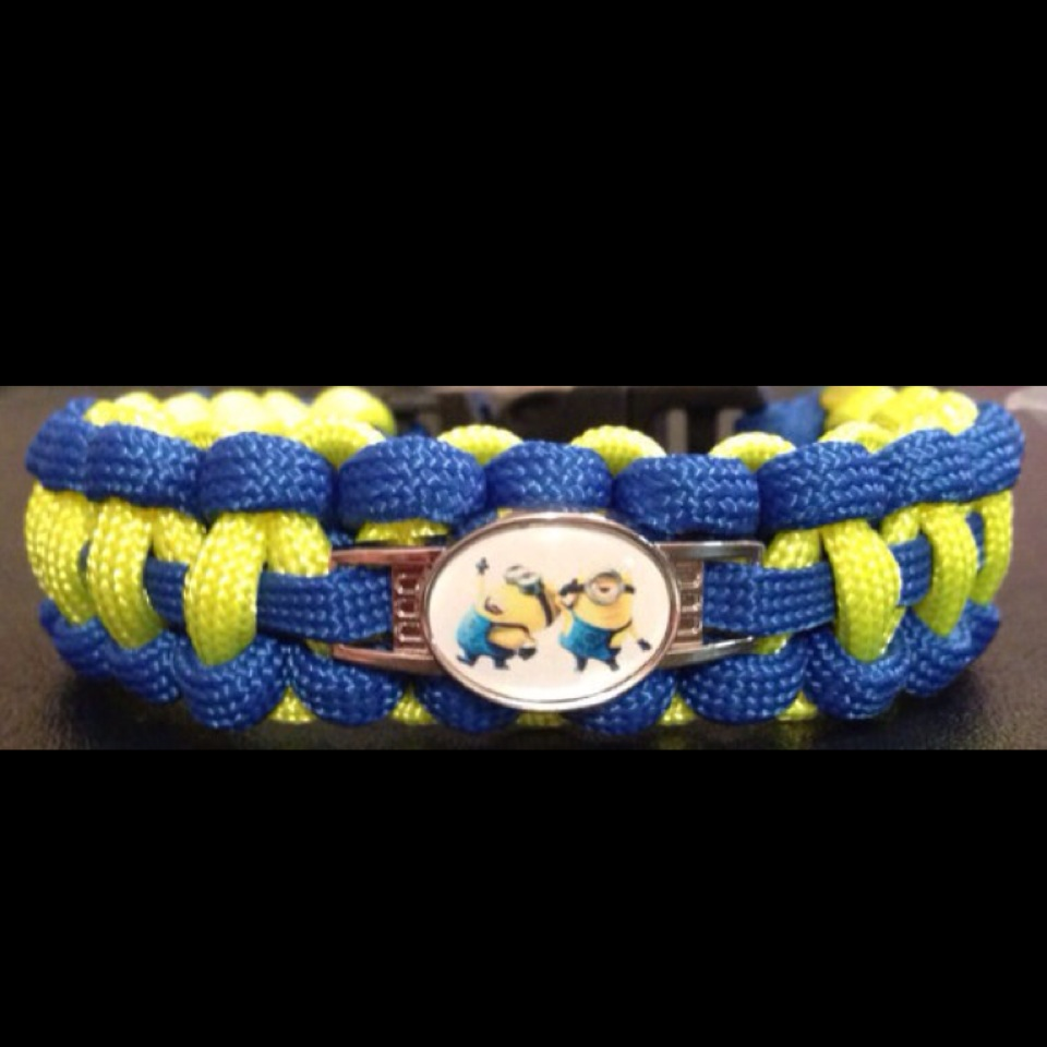 Minion Charm Paracord Bracelet
