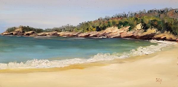 Sand Beach Acadia Oil Painting