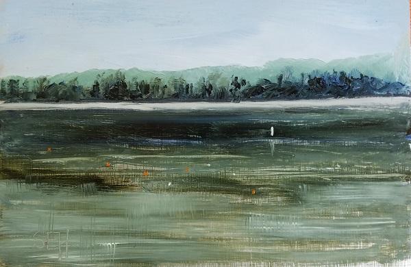 Buoys Oil Painting