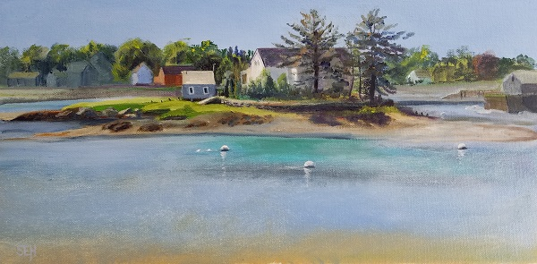 Peirce Island Pause Oil Painting