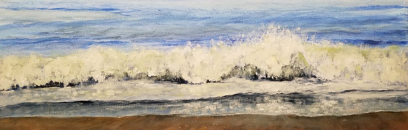 Long Breaker Oil Painting