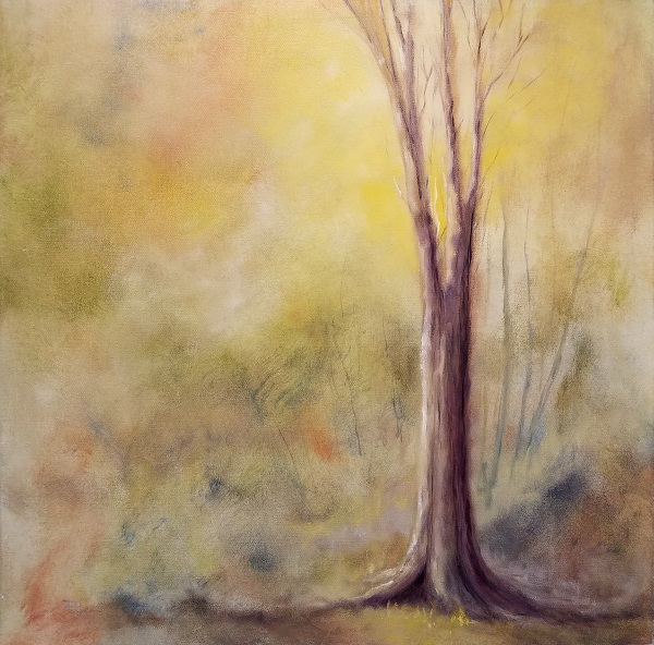 Quiet Wood Oil Painting