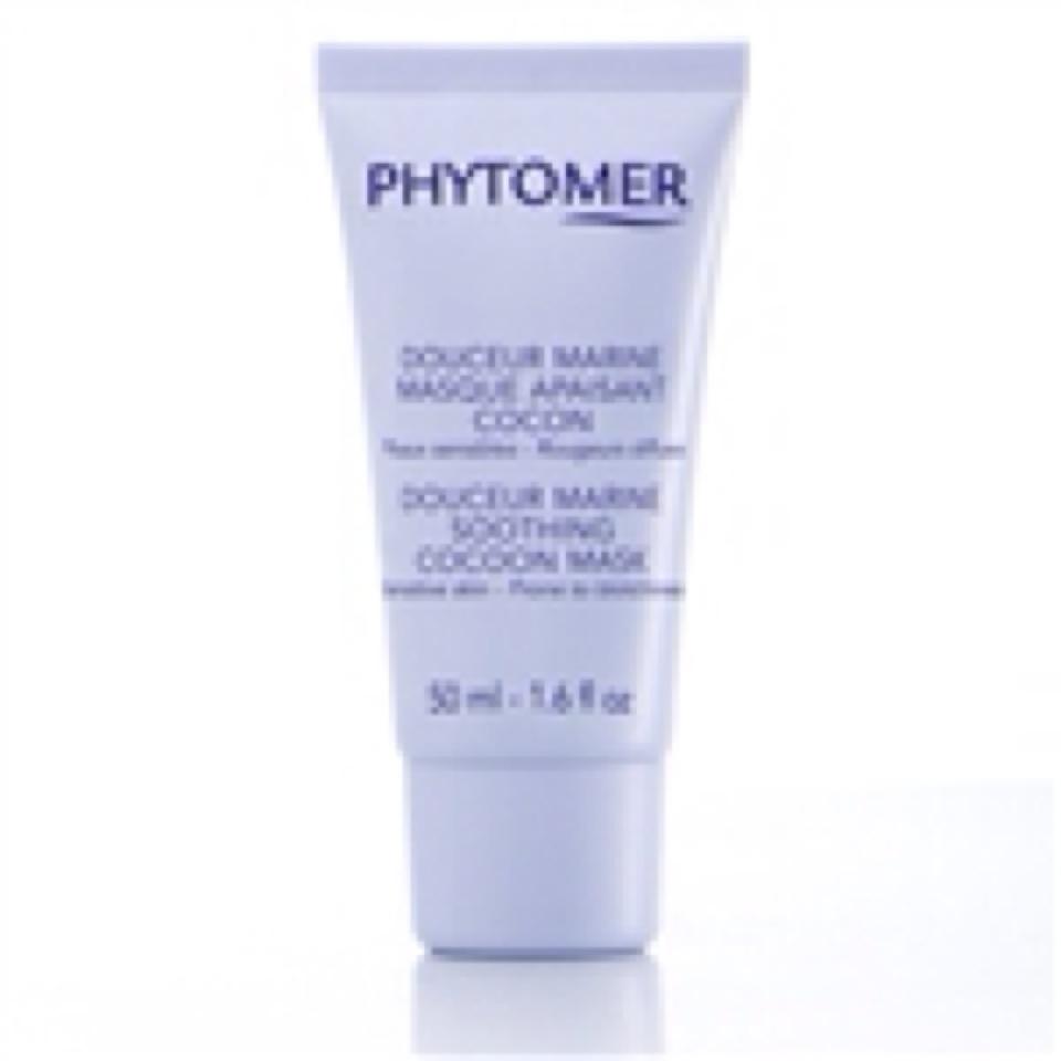 Успокаивающая маска кокон для чувствительной phytomer douser marine mask 50ml.