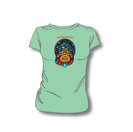 Ladies t shirt mint color for Mint color t shirt