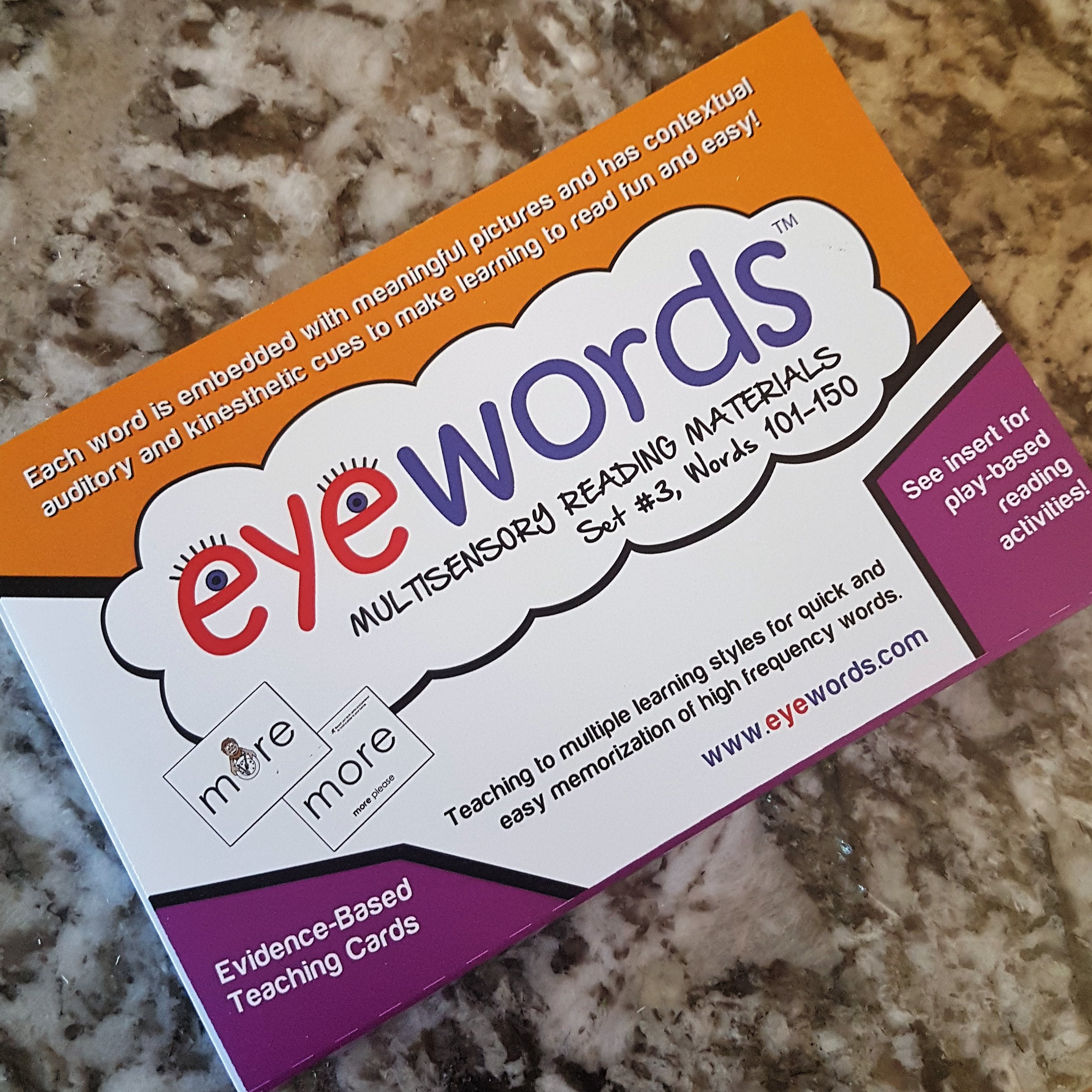 Eyewords Multisensory Sight Word Cards, Set #3, Words 101-150