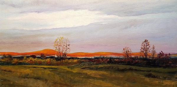 Clearing At Dawn Oil Painting