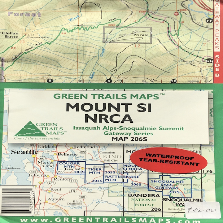 Green Trails Map: Mount Si NRCA
