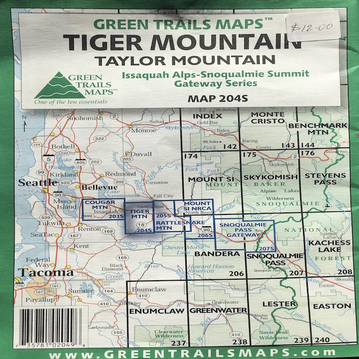 Green Trails Map: Tiger Mountain / Taylor Mountain