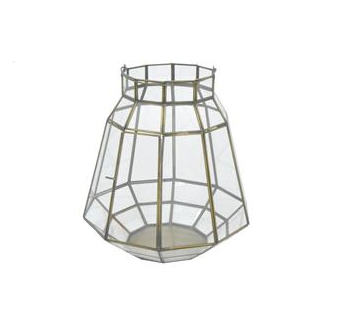 Geometric Glass Lantern, Medium