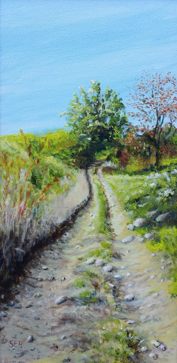 Farm Lane Oil Painting