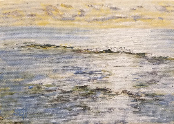 Atlantic Saturday AM Acrylic Painting