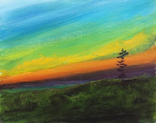 Evening Meditation Oil Painting
