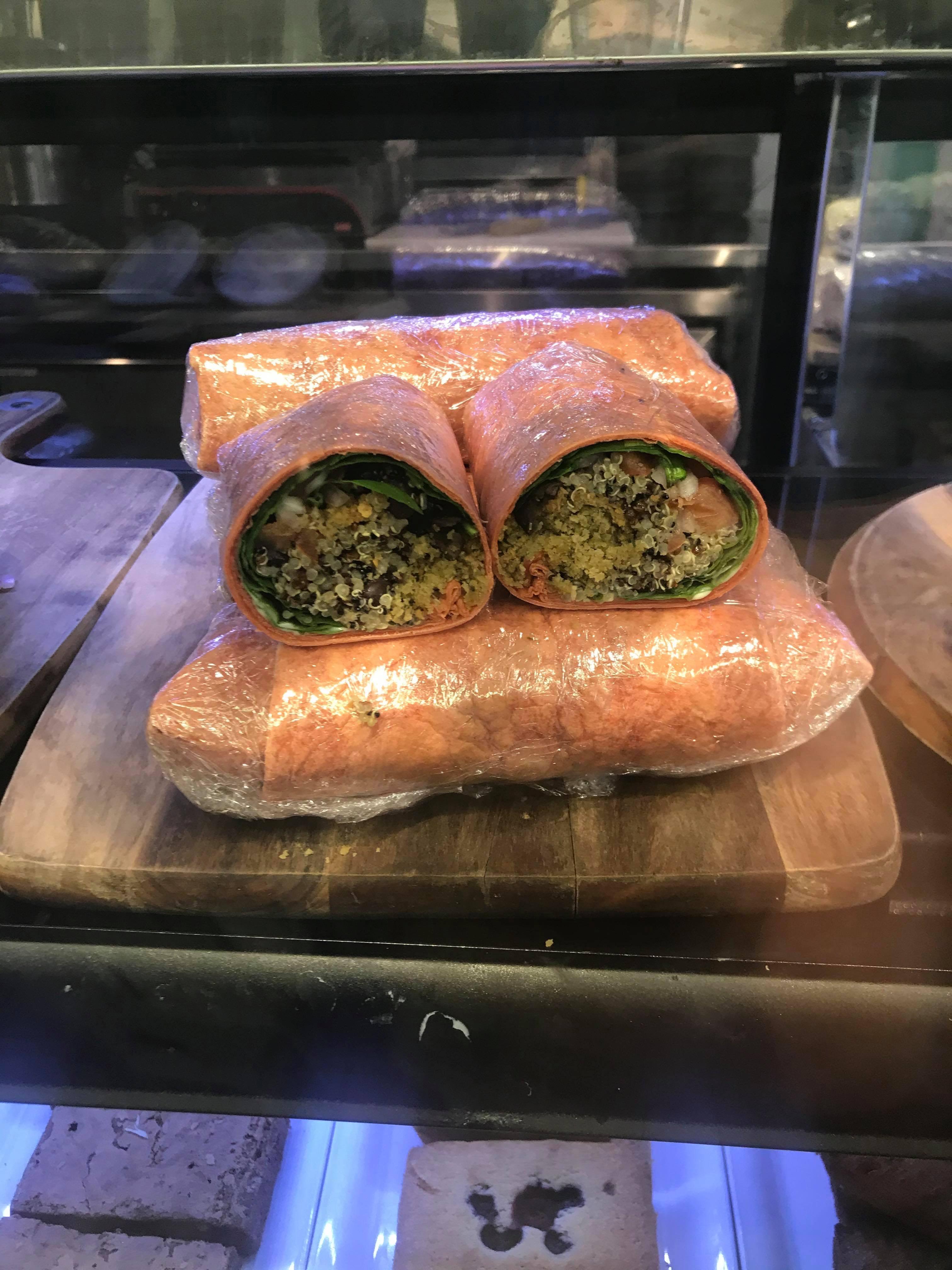 Falafel & Quinoa Tomato Wrap