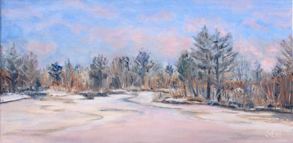 Reservoir Thaw Oil Painting