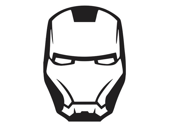 iron man face mask template - iron man mask