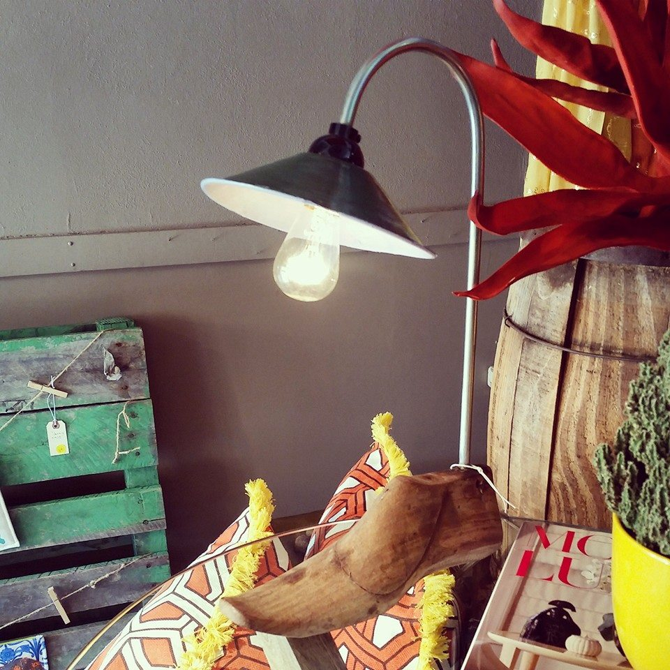 Antique Shoe Form Desk Lamp