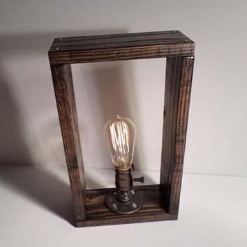Large Book Shelf Edison Lamp