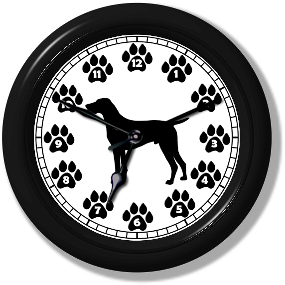 German Shorthaired Pointer Silhouette Wall Clock #215