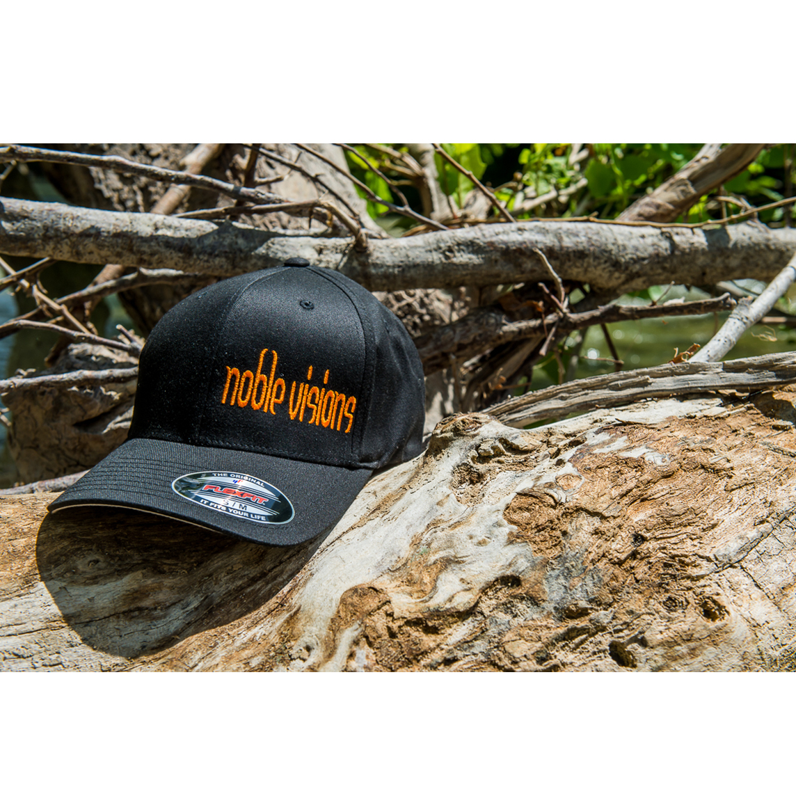 bbc43d4b6ad Noble Visions Custom Embriodered Yupoong FlexFit Hat