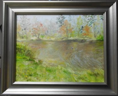 Spring Pond Oil Painting