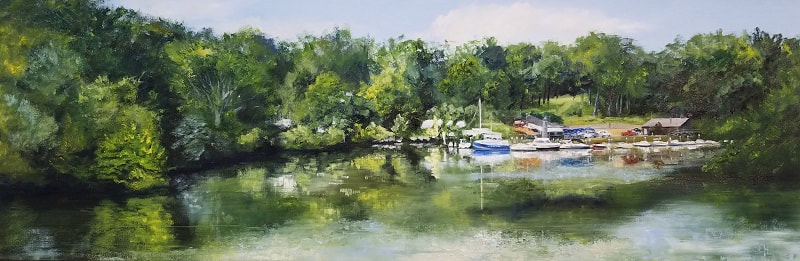 George's Marina Oil Painting