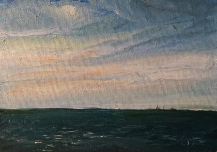 Dark Morning Oil Painting