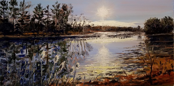 Spinney Creek Oil Painting