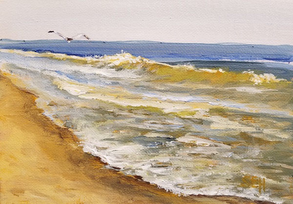 Atlantic Friday PM Acrylic Painting